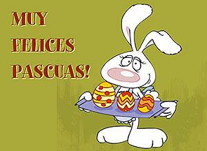 Imagen de Pascuas para compartir gratis. Muy felices Pascuas