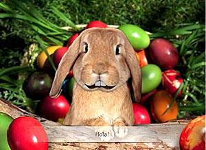 Imagen de Pascuas para compartir gratis. El mismísimo Conejo de Pascuas