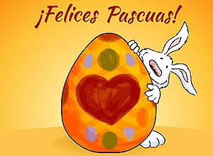 Imagen de Pascuas para compartir gratis. Decorando huevitos