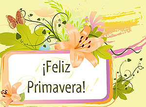 Tarjetas animadas postales para desear Feliz Da de la Primavera