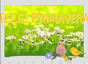 Imagen de Día de la Primavera para compartir gratis. Primaverales saludos!