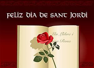 Imagen de Feliz Santo para compartir gratis. Feliz Día de Sant Jordi