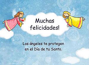 Imagen de Feliz Santo para compartir gratis. Los ángeles te protegen
