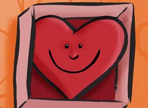 Imagen de Te envio un beso para compartir gratis. Te envío mi corazón