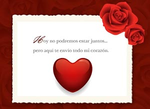 Imagen de San Valentín para compartir gratis. Te envío mi corazón a la distancia