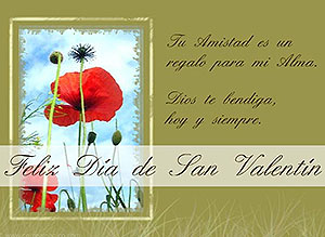 Imagen de San Valentín para compartir gratis. Dios te bendiga