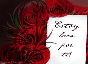 Imagen de San Valentín para compartir gratis. Estoy loca por ti!