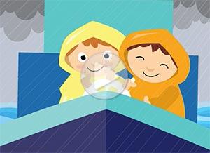 Tarjeta animada de . Atravesando la tormenta juntos