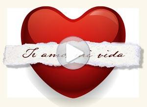 Imagen de Amor para compartir gratis. Te envío mi corazón a la distancia