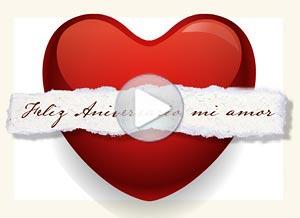 Imagen de Aniversarios para compartir gratis. Te envío mi corazón a la distancia