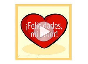 Imagen de Amor para compartir gratis. Felicidades, mi amor!