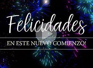 Imagen de Año Nuevo para compartir gratis. Felicidades en este nuevo comienzo