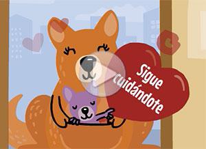 Imagen de Cuarentena para compartir gratis. Te mando besos y abrazos