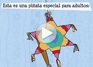 Tarjeta animada de . Una piñata para adultos