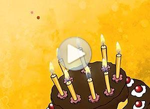 Imagen de Cumpleaños para compartir gratis. Te deseo felicidad todo el año!