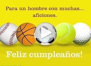 Imagen de Cumpleaños para compartir gratis. Para un hombre con muchas aficiones