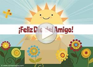 Imagen de Día de la Amigo para compartir gratis. Te envío una caja de sol