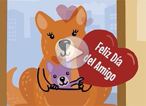 Imagen de Día de la Amigo para compartir gratis. Como no puedo saludarte en persona…
