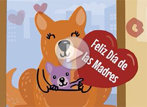 Imagen de Día de las Madres para compartir gratis. Como no puedo saludarte en persona…