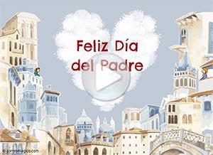 Imagen de Día del Padre para compartir gratis. Aunque hoy no podamos reunirnos…