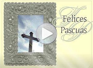 Imagen de Pascuas para compartir gratis. La Paz sea contigo