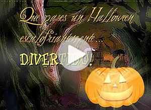 Imagen de Halloween para compartir gratis. Escalofriantemente divertido