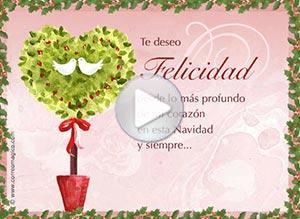 Imagen de Navidad para compartir gratis. Te deseo Felicidad, mi amor