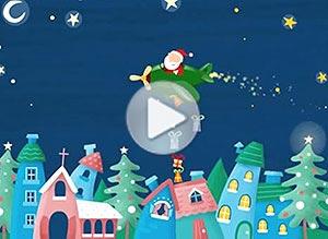 Imagen de Navidad para compartir gratis. Un mundo lleno de alegría