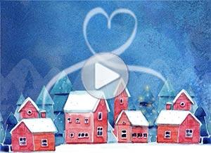 Imagen de Navidad para compartir gratis. Juntos en el corazón