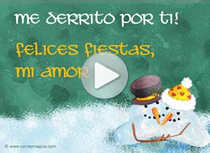 Imagen de Navidad para compartir gratis. Me derrito por ti, mi amor!