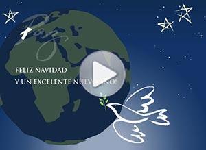 Imagen de Navidad para compartir gratis. Paz alrededor del mundo