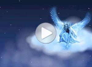 Imagen de Navidad para compartir gratis. Sonrisa de ángel