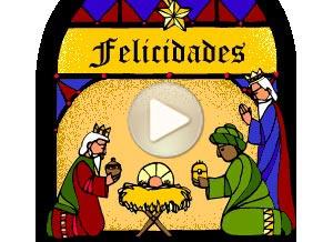 Imagen de Reyes Magos para compartir gratis. Vitraux