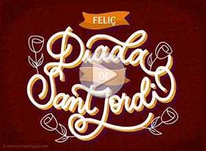 Imagen de Sant Jordi para compartir gratis. Nuestra historia de amor