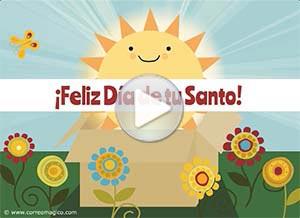 Imagen de Feliz Santo para compartir gratis. Te envío una caja de sol en tu día