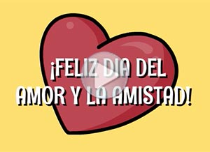 Imagen de San Valentín para compartir gratis. Feliz Día del Amor y la Amistad