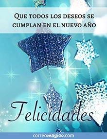 Que todos los deseos se cumplan en el nuevo año. Felicidades