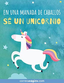 En una manada de caballos, sé un unicornio