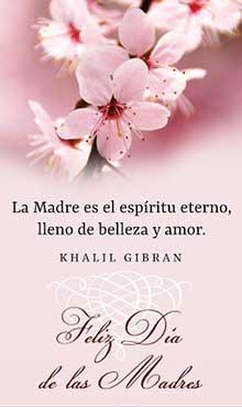 La Madre es el espíritu eterno. Lleno de belleza y amor. Feliz dia de las Madres