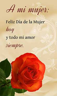 Feliz día de la Mujer hoy y todo mi amor siempre