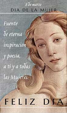 Fuente de eterna inspiración y poesía, a ti y a todas las mujeres