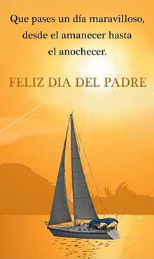 Que pases un dia maravilloso. Desde el amanecer hasta el anochecer. Feliz dia del Padre
