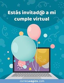 Estás invitad@ a mi cumple virtual