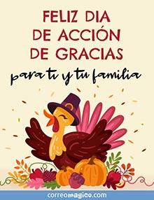 Feliz Día de Acción de Gracias para ti y tu familia