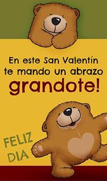 En este San Valentín te mando un abrazo GRANDOTE