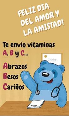 Te envío vitaminas A B y C Abrazos, besos, cariños