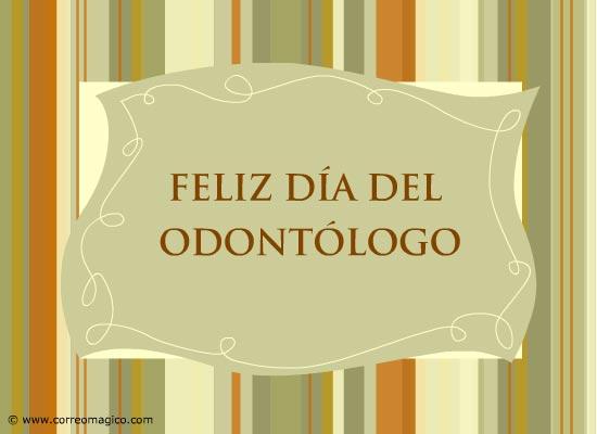 tarjetas-de-profesiones: Feliz Día del Odontólogo