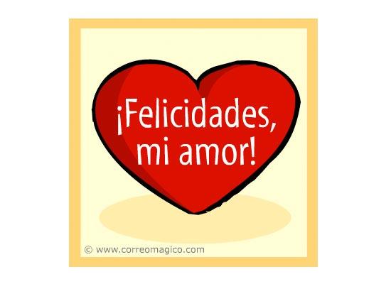 : Felicidades, mi amor!