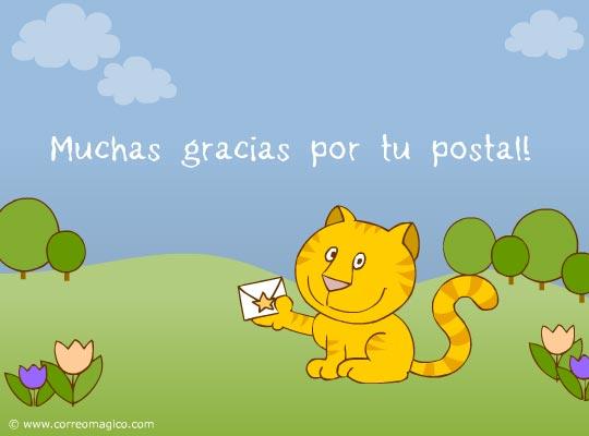 : Gracias por tu postal