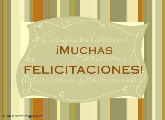 : Muchas felicitaciones